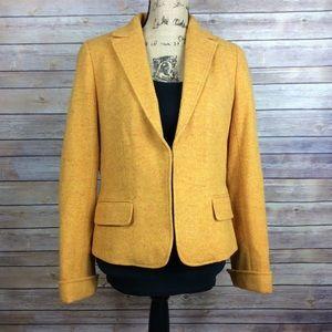 J.Crew Yellow Donegal Tweed Wool Jacket Blazer
